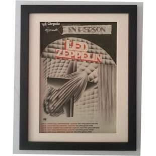 LED ZEPPELIN Jan 1970 UK Tour ORIGINAL POSTER