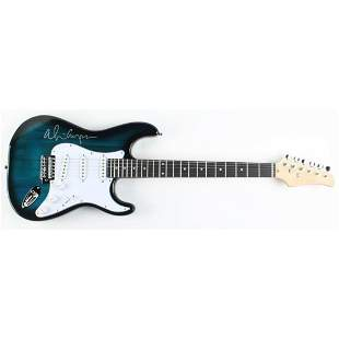 Alice Cooper Signed Full-Size Electric Guitar Teal (JSA