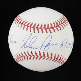 "Nolan Ryan Signed OML Baseball Inscribed ""324 Wins"" &"