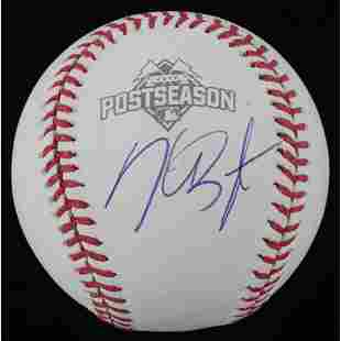 Kris Bryant Signed 2015 Postseason Baseball (JSA