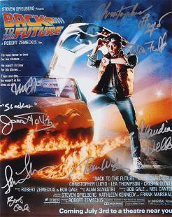 """""""Back to The Future"""" 16x20 Photo Signed By (10) With Mi"""