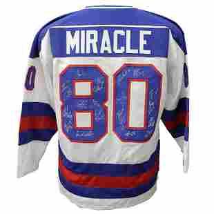 "1980 Team Signed USA Hockey ""Miracle on Ice"" Jersey JSA"