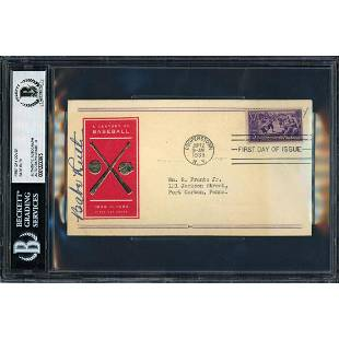 Babe Ruth Autographed 1939 First Day Cover New York