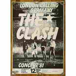 The Clash, London Calling Germany, 1981 Tour Poster,