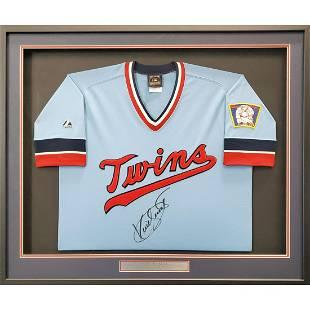 Minnesota Twins Kirby Puckett Autographed Framed Blue