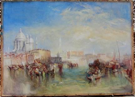 Thomas Moran Exquisite 19th century Venice watercolor