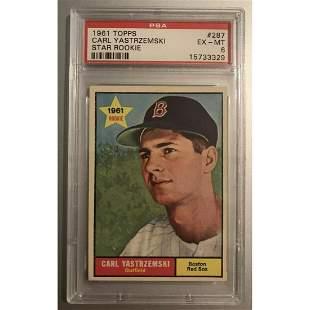 1961 Topps #287 Carl Yastrzemski Star Rookie Red Sox