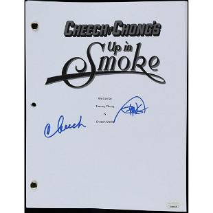 """Cheech Marin & Tommy Chong Signed """"Up in Smoke"""" Movie"""