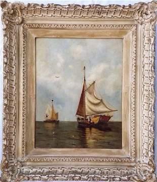 Arthur Quartley (1839-1886) Original O/C Painting of Sh