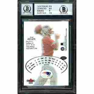 Tom Brady Autographed 2000 Fleer E-X Rookie Card #122