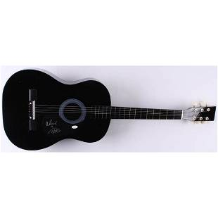 """Tommy Chong & Cheech Marin Signed 38"""" Acoustic Guitar"""