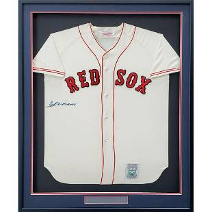 Boston Red Sox Ted Williams Autographed Framed White