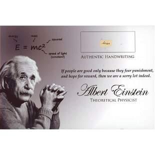Albert Einstein Hand-Written Word (JSA LOA)