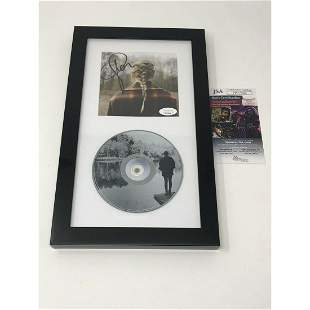 TAYLOR SWIFT EVERMORE SIGNED CD ALBUM JSA AUTHENTICATED