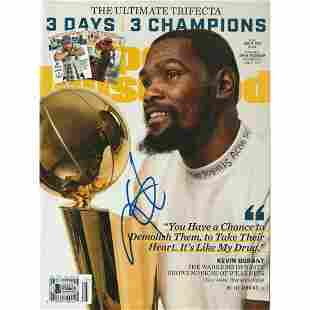 KEVIN DURANT (Warriors) Signed SPORTS ILLUSTRATED with