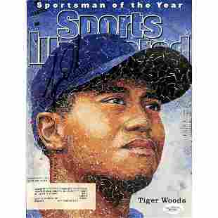 Tiger Woods Authentic Signed 1996 Sports Illustrated
