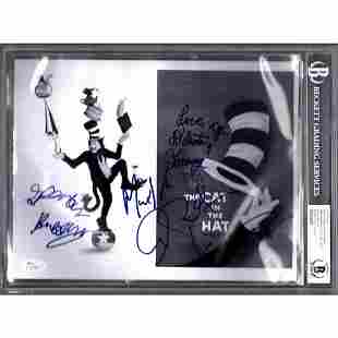 """Mike Myers + 4 Signed Autograph """"CAT IN THE HAT"""" Cast"""