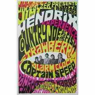 THE JIMI HENDRIX EXPERIENCE 1967 PURPLE HAZE CONCERT