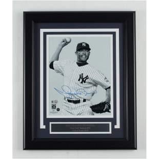 Mariano Rivera Signed Yankees 13.5x16.5 Framed Photo