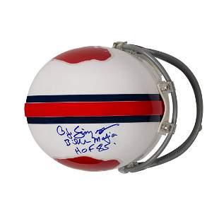 """O.J Simpson Signed Buffalo Bills Mini-Helmet """"The Juice"""