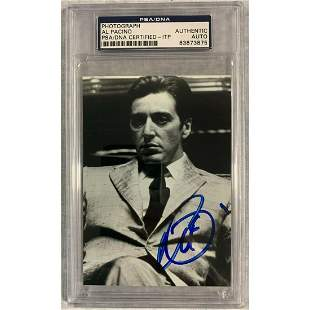 Al Pacino Signed 3.5 x 5 The Godfather Photo PSA DNA