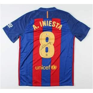 Andres Iniesta Signed FC Barcelona Jersey (Beckett COA)