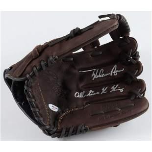 Nolan Ryan Signed Rawlings Baseball Glove Inscribed