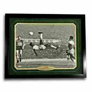 "Pele Signed 16x20 Framed ""Bicycle Kick"" Autograph 16x"