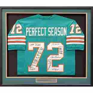 1972 Miami Dolphins Perfect Season Team Autographed