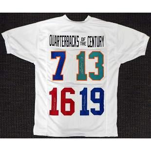 Quarterbacks Of The Century Autographed Jersey Unitas,