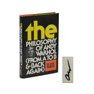 The Philosophy of Andy Warhol ~ SIGNED ~ First Edition