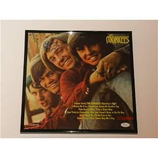 THE MONKEES SIGNED FRAMED SELF TITLED ALBUM DAVEY JONES