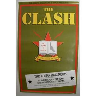 THE CLASH CONCERT TOUR POSTER 1982 COMBAT ROCK JOE