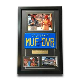"Cheech & Chong Signed ""MUF DVR"" Movie Car License Plate"