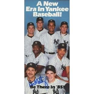 Don Mattingly Signed Yankees 1985 Program Trifold (JSA