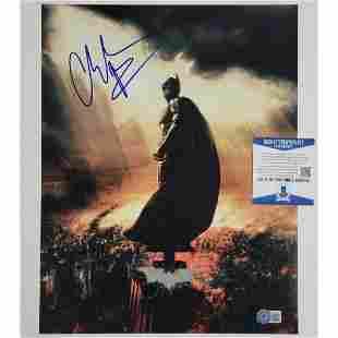 Christian Bale signed Batman 11x14 Photo Autograph Dark