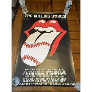 Original 2005 Tour The Rolling Stones Baseball Parks