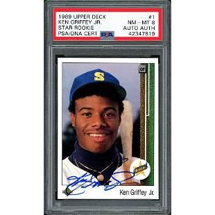 Ken Griffey Jr. Autographed 1989 Upper Deck Rookie Card