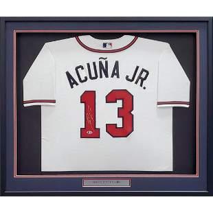 Atlanta Braves Ronald Acuna Jr. Autographed White Nike