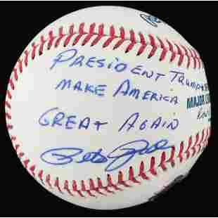 """Pete Rose Signed OML Baseball Inscribed """"President"""