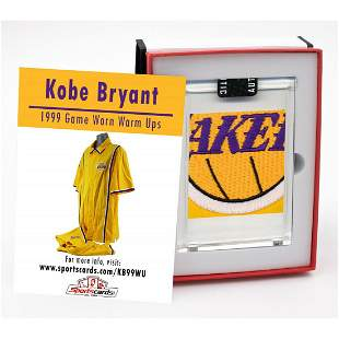 1998-99 KOBE BRYANT GAME-WORN L.A. LAKERS WARM-UP SUIT