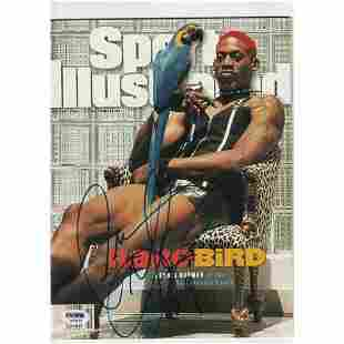DENNIS RODMAN (Spurs) Signed SPORTS ILLUSTRATED with