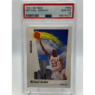 Michael Jordan Chicago Bulls 1991 SkyBox SkyMaster #583