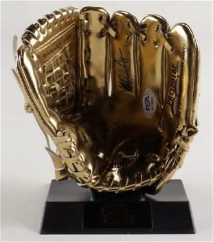 Nolan Ryan Signed Rawlings Mini Gold Glove Award with