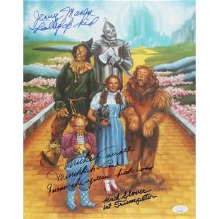 """Karl Slover, Mickey Carroll, & Jerry Maren Signed """"The"""