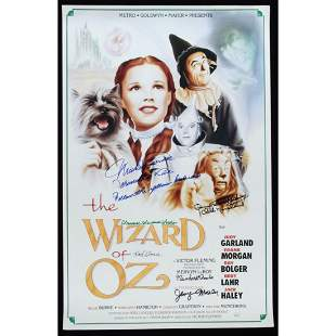 """""""The Wizard Of Oz"""" 16x24 Poster Cast-Signed by (6) with"""