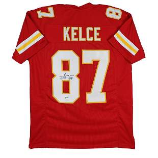 Travis Kelce Authentic Signed Red Pro Style Jersey