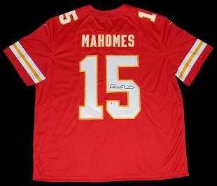 Patrick Mahomes Signed Kansas City Cheifs Red NIKE