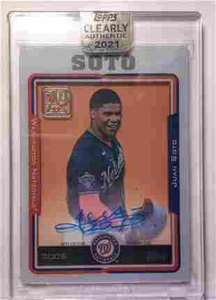Juan Soto Auto 2021 Topps Clearly Authentic AUTO