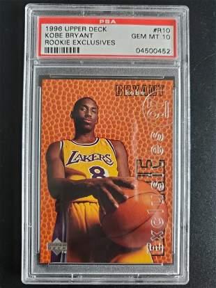 1996 Upper Deck Rookie Exclusive Kobe Bryant PSA 10 GEM